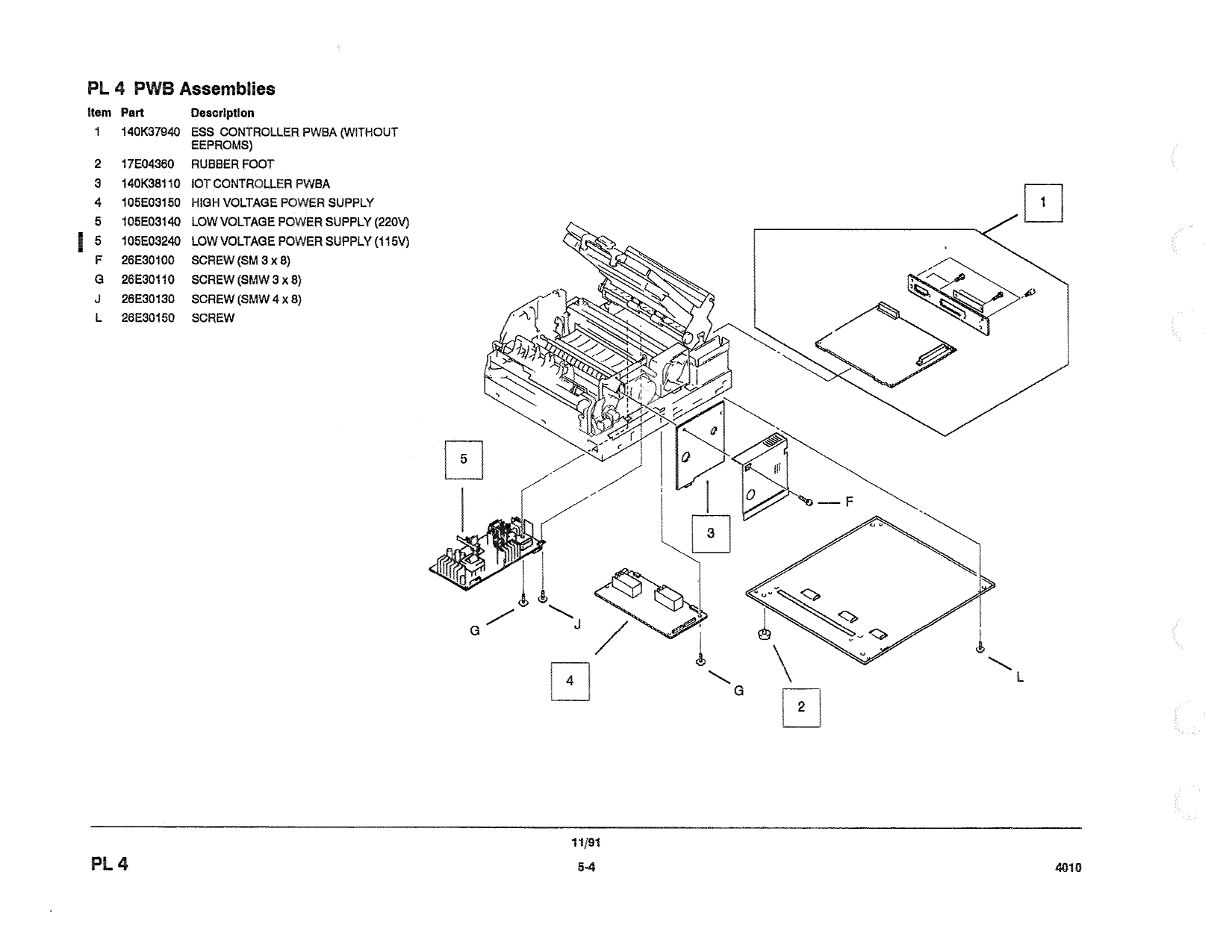 Xerox Printer Laser Parts List And Service Manual